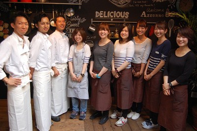 Azzurro520+Caffe 海浜幕張店(ディナー)のアルバイト情報
