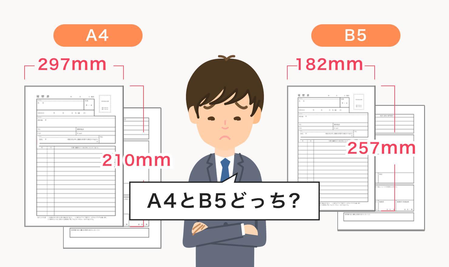 履歴書はA4?B5?自分にとってのベストサイズを徹底解説!