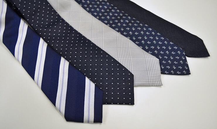 ネクタイの柄のバリエーション