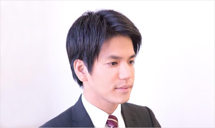 面接用の髪型をした男性