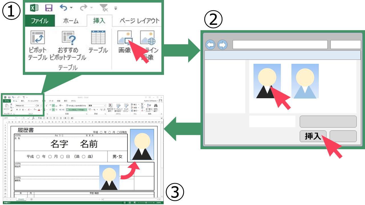 エクセルで画像を貼り付ける方法